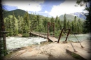Footbridge over Animas River, Colorado