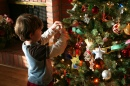 Aidan Decorates the Tree