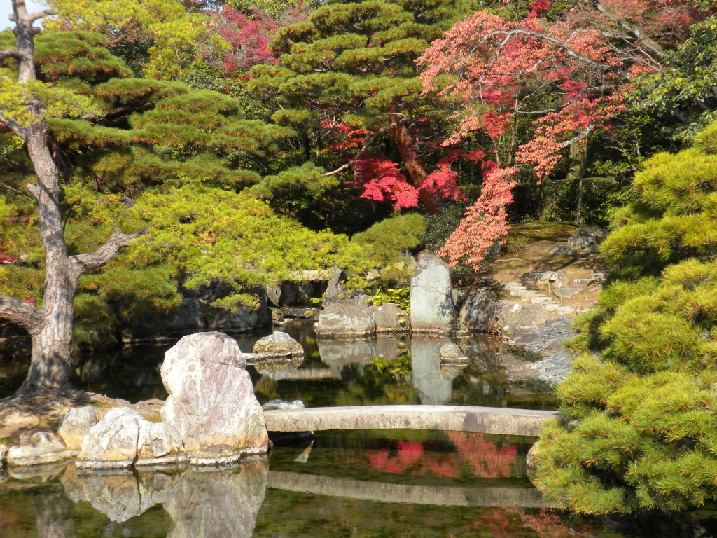 Katsura imperial villa jigsaw puzzle in bridges puzzles on for Gardens and villa