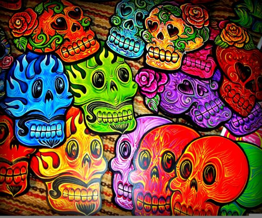 Colorful-Skulls-Android-Wallpapers Jigsaw Puzzle In Cindy
