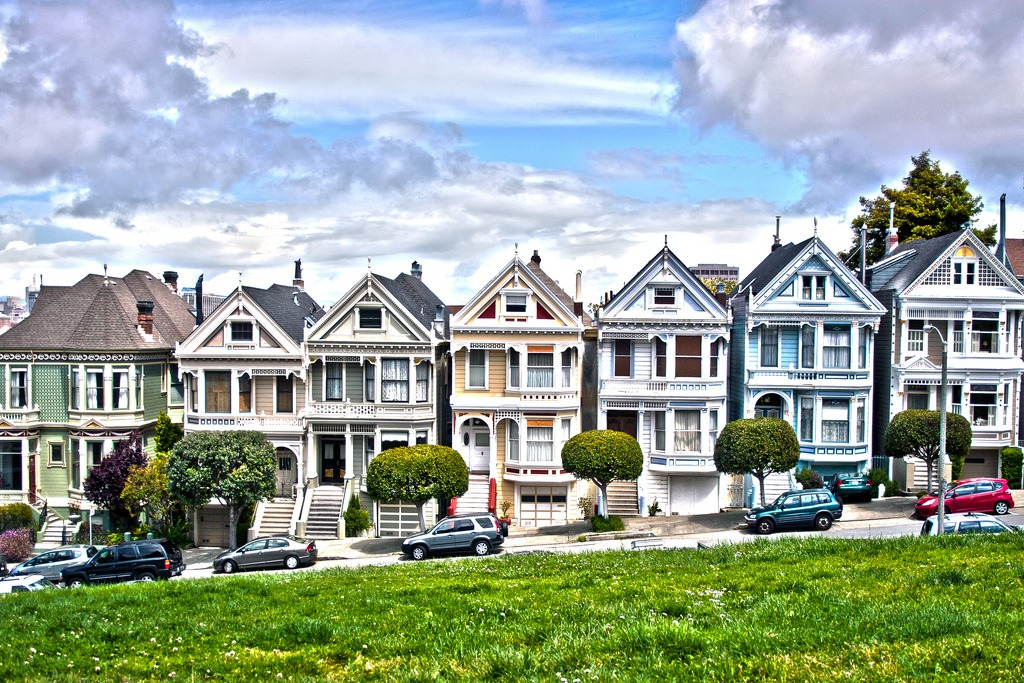 painted ladies san francisco jigsaw puzzle in puzzle of the day puzzles on. Black Bedroom Furniture Sets. Home Design Ideas
