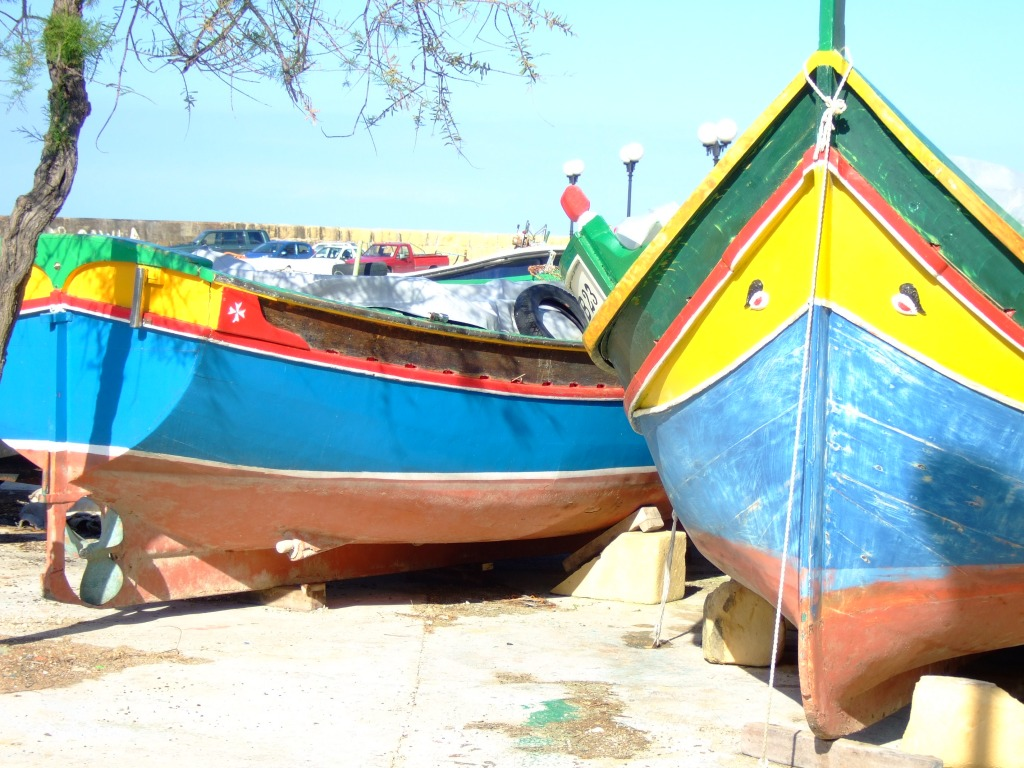 maltese boat maltese fishing boats jigsaw puzzle in puzzle of the day 4416