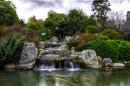 Waterfall at the Japanese Garden