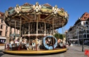 Historic Carousel in Strasbourg, France