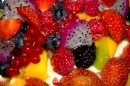 Fruit, Berries & Cream - a Delicious Dessert