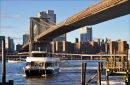 East River Ferry and Brooklyn Bridge