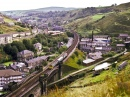 Crossing the Viaduct in Todmorden, England
