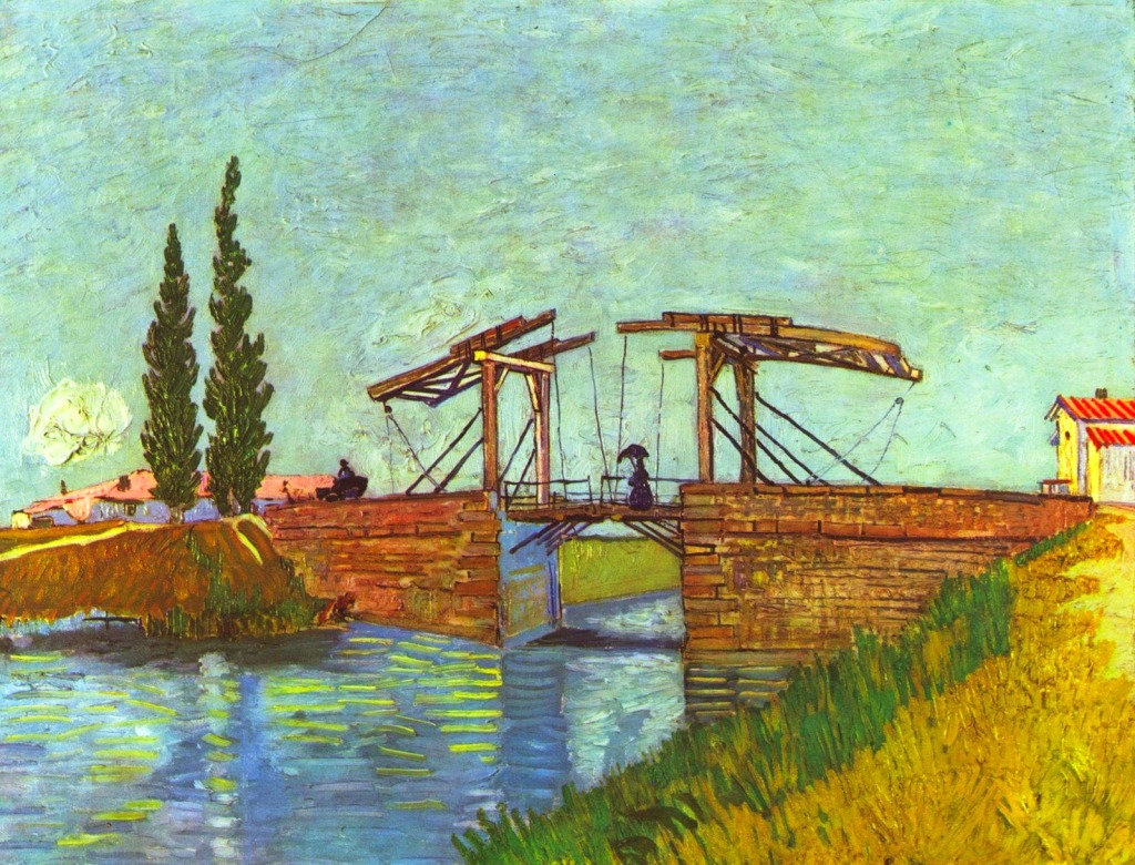Anglois the anglois bridge at arles jigsaw puzzle in bridges puzzles