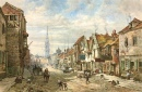 Watercolor of Castle Street, Salisbury
