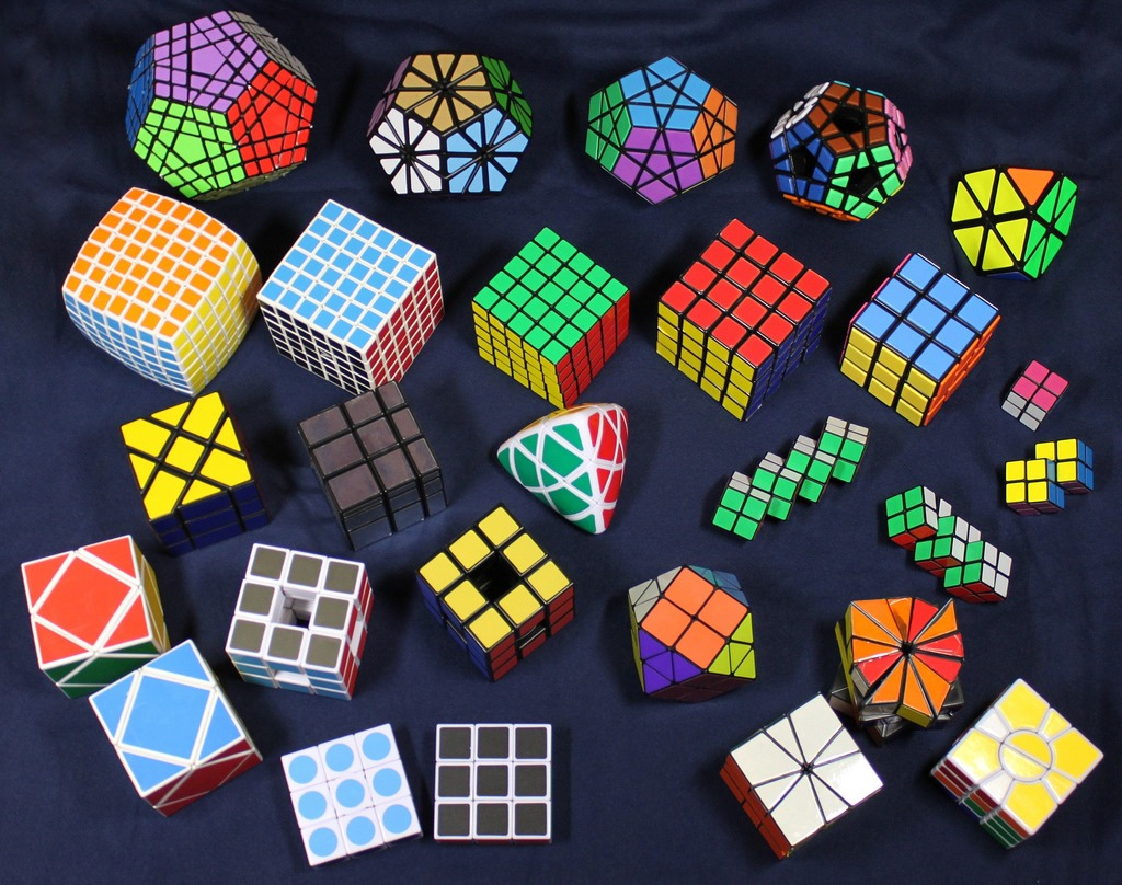 Rubik 39 S Cube Collection Jigsaw Puzzle In Macro Puzzles On