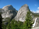 Half Dome, Liberty Cap and Nevada Falls