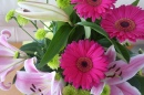 Gerbera, Oriental Lily and Chrysanthemum