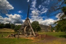 Trebuchet at Warwick Castle, England