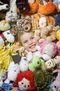 Lainey with Her Stuffed Animals
