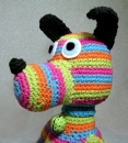 Striped Crochet Dog Softie