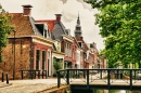Canal in Bolsward, Netherlands
