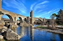 Roman Bridge in Besalú, Spain