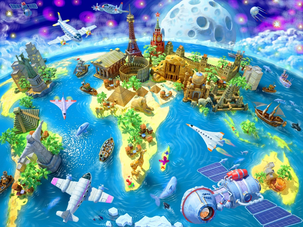Wonders Of The World Jigsaw Puzzle In Kids Puzzles Puzzles