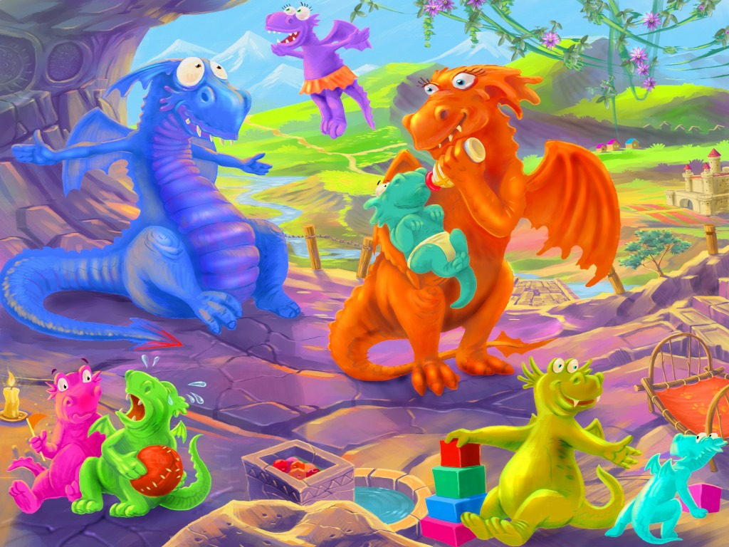 Dragon Family Jigsaw Puzzle In Kids Puzzles Puzzles On