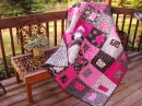 Pink Quilt on the Terrace