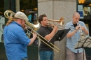 The Band outside Barnes & Noble