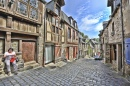 Medieval Streets of Dinan, Brittany, France