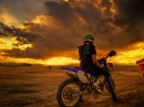 Sunset Watching on a Dirt Bike