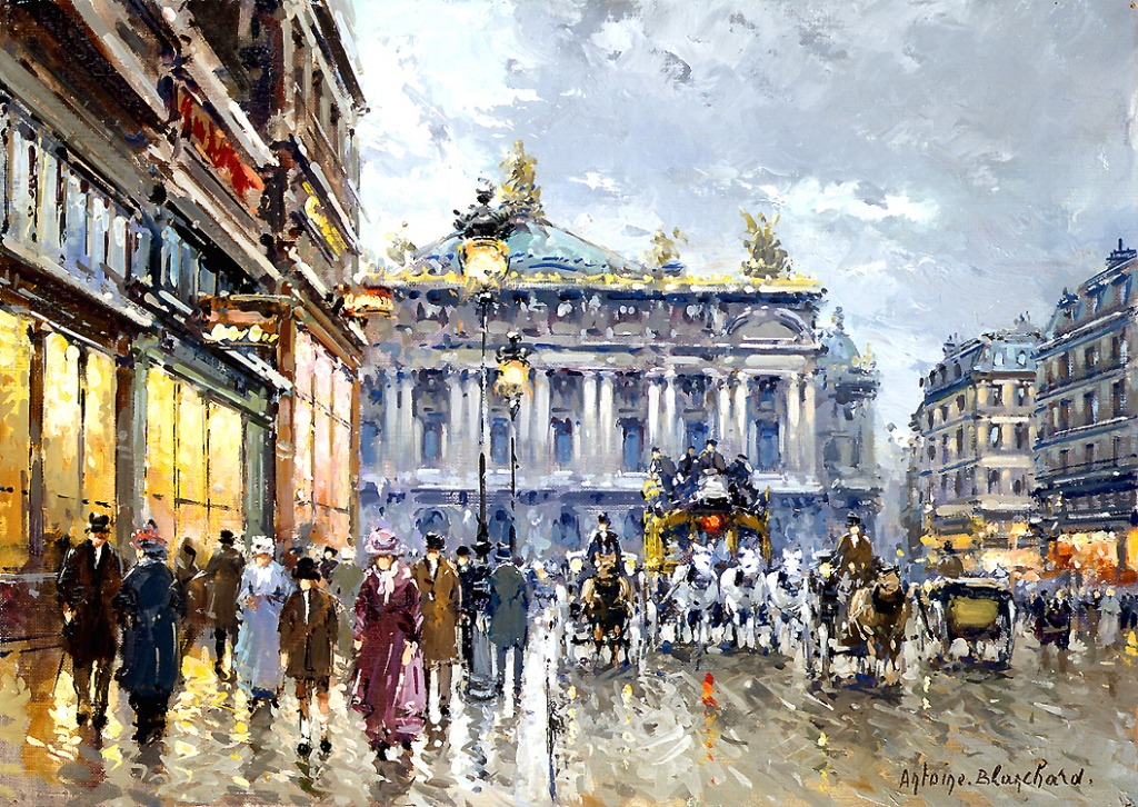Avenue de l 39 opera jigsaw puzzle in piece of art puzzles on - Bureau de change avenue de l opera ...