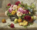 Still Life of Roses and Fruit