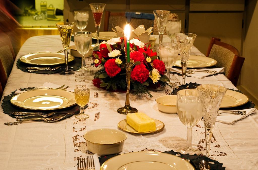 christmas feast table - photo #10