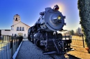 Boise Train Depot and Engine