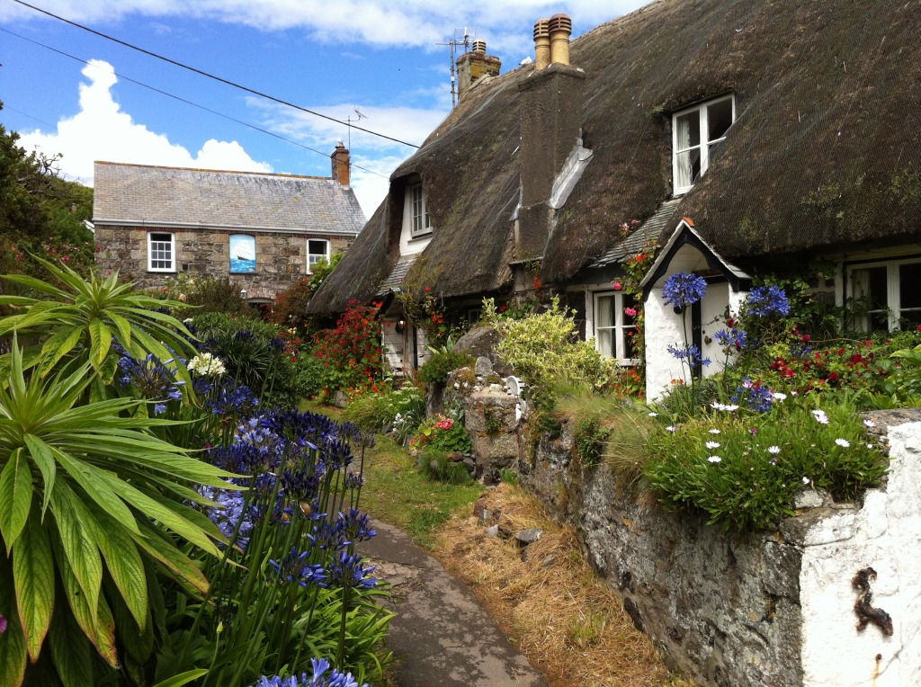Cadgwith Cottages Cornwall England Jigsaw Puzzle In