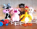 Farm Animal Plushies