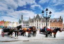 Carriages in the Old City, Bruges, Belgium