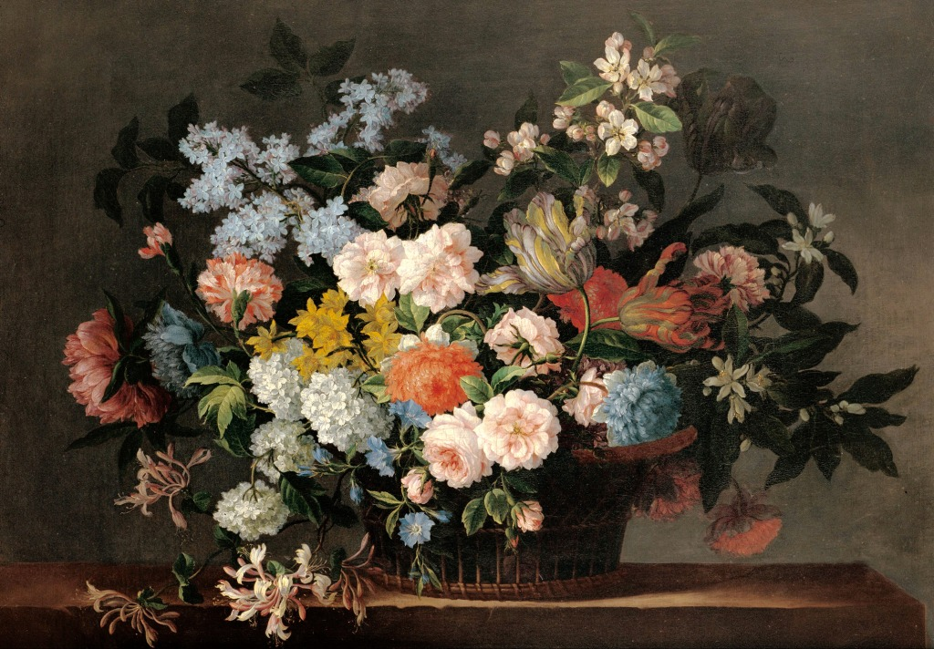 Flower Baskets Crossword Clue : Still life with basket of flowers jigsaw puzzle in