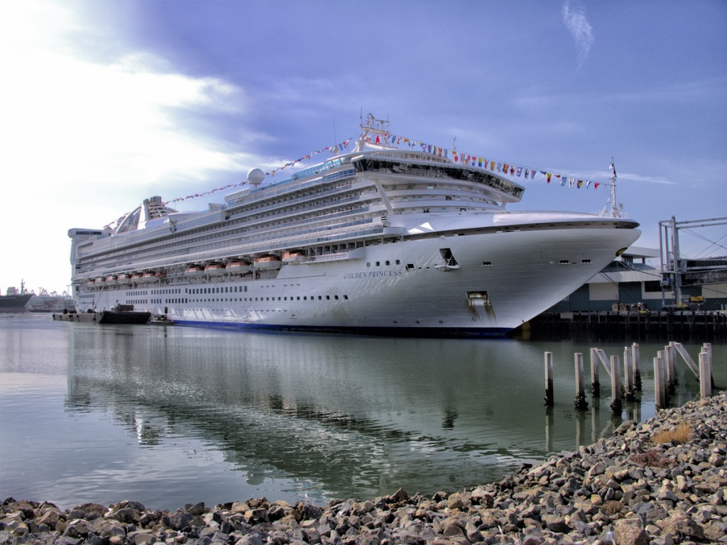 Golden Princess Cruise Ship To Hawaii Jigsaw Puzzle In Puzzle Of The Day Puzzles On