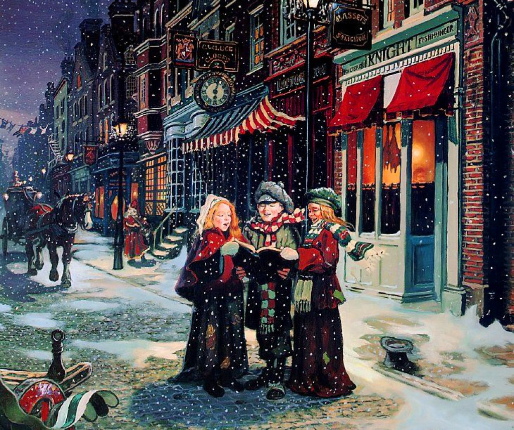 Vintage Christmas Card jigsaw puzzle in Christmas & New Year puzzles ...