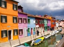 Colorful Burano Houses, Venice, Italy