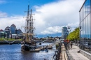 Tall Ship On The Liffey River, Dublin