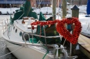 Boat Dressed Up for Valentine's Day