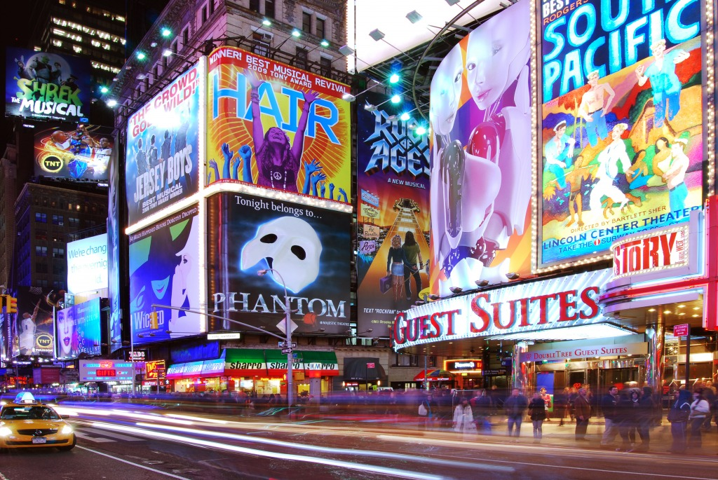 Broadway show billboards times square nyc jigsaw puzzle for The brodway