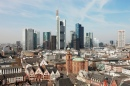 Frankfurt Historical City Centre and Skyline