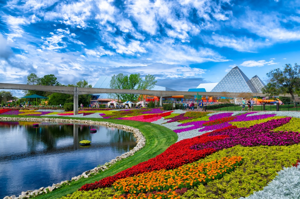 walt disney world in orlando florida jigsaw puzzle in flowers puzzles on. Black Bedroom Furniture Sets. Home Design Ideas
