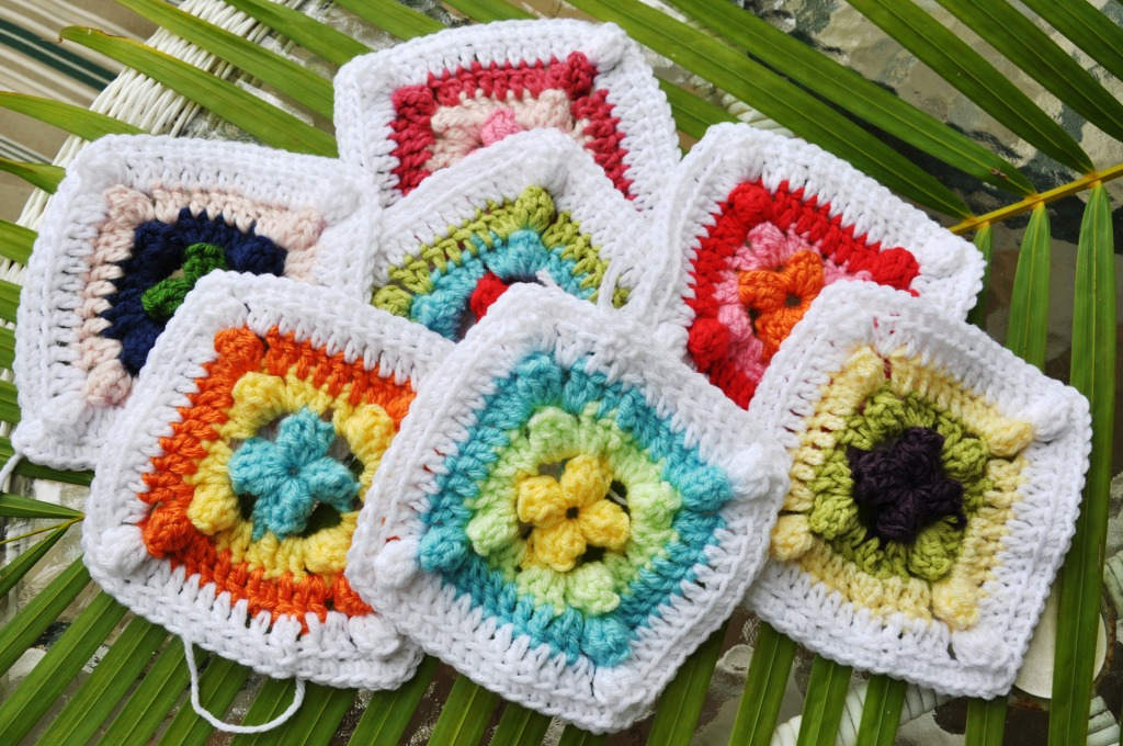 Links To More Than 10 000 Crochet Patterns And Pieces: Granny Squares In Key West Jigsaw Puzzle In Handmade