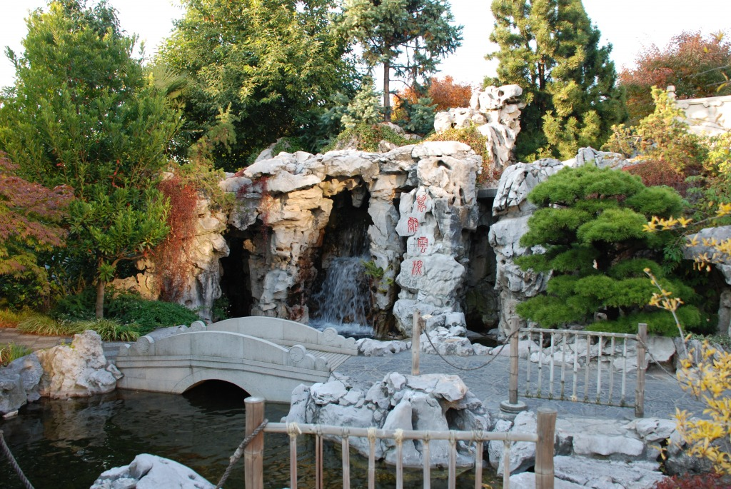Portland Chinese Garden Jigsaw Puzzle In Waterfalls Puzzles On