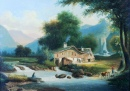 Landscape With a Cottage by a Stream