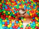 Playing in a Ball Pit at MacDo