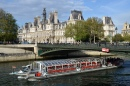 Pont d'Arcole and Town Hall of Paris, France