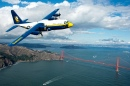 Blue Angels C-130 Hercules over San Francisco