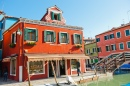 Colorful Houses in Burano, Venice